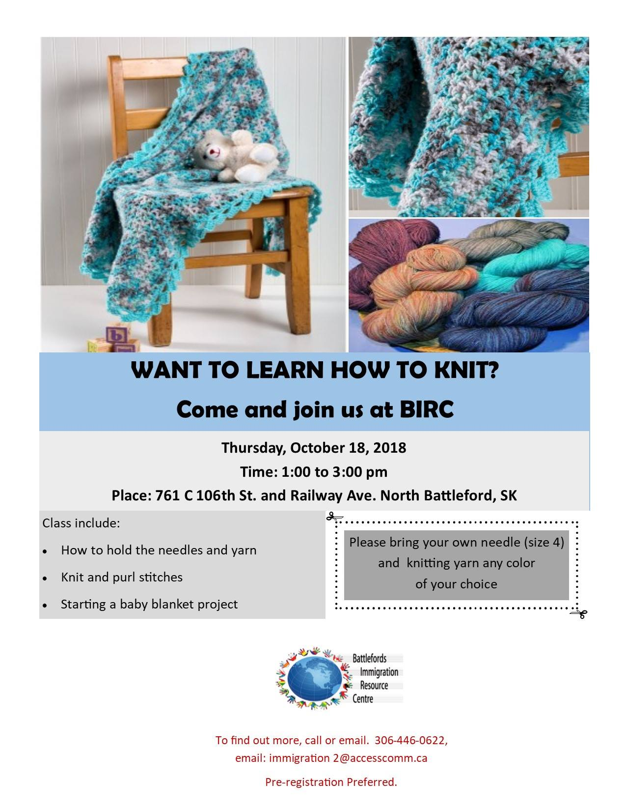 Want to learn how to knit?